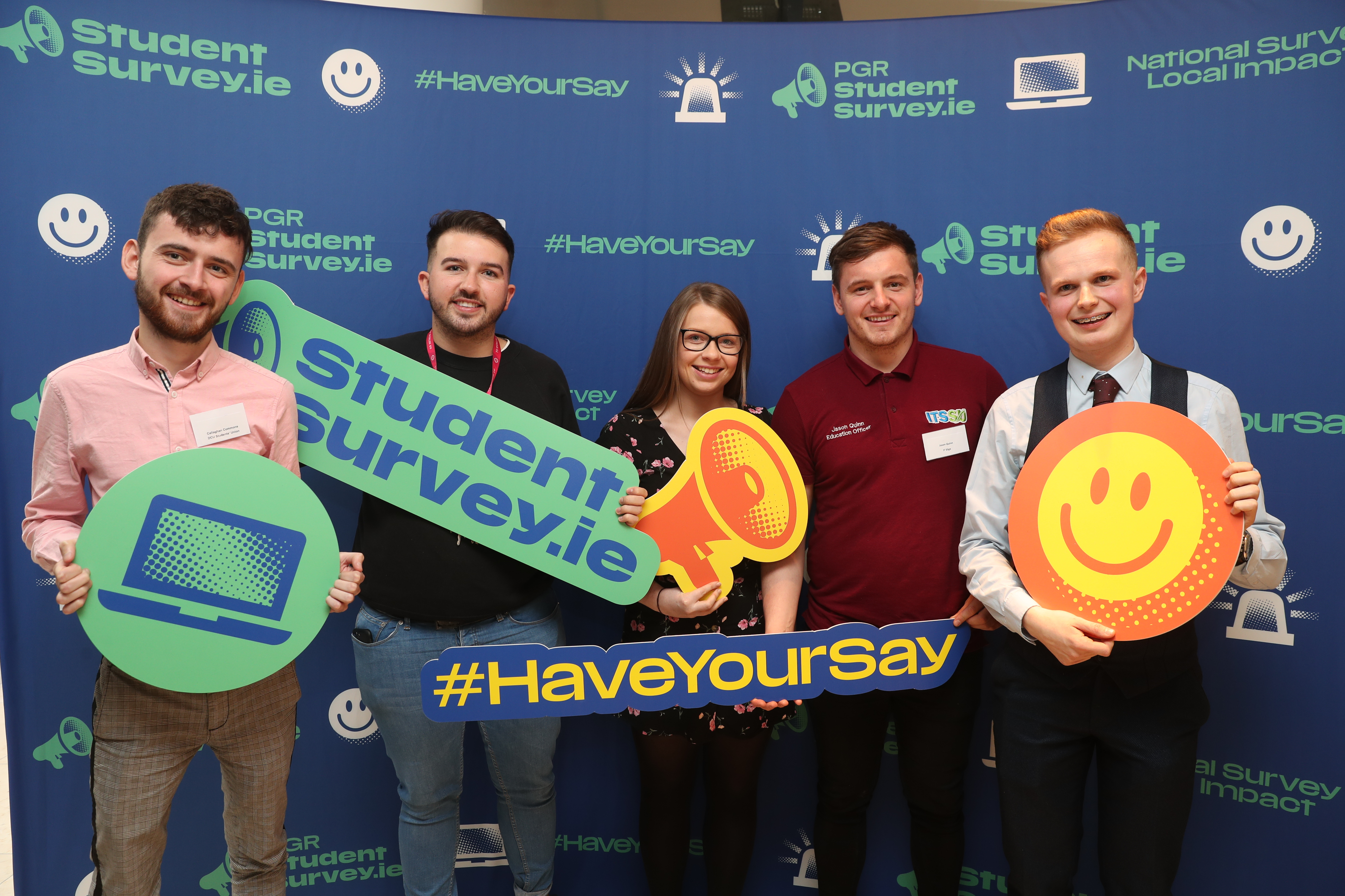 Student representatives at the launch