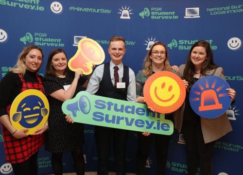 Team USI at the launch of the StudentSurvey.ie national reports