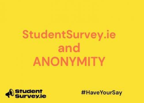 StudentSurvey.ie and anonymity
